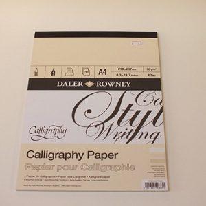 Daler Rowney kalligrafie blok