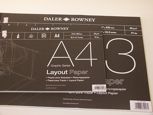 Daler Rowney layout papier