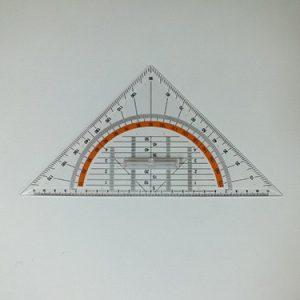 Geodriehoek 22 cm