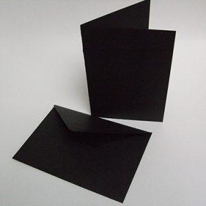ansichtkaart dubbel, zwart 21 x 15