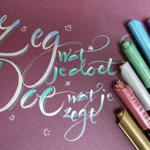 ZIG Fudebiyori metallic penseelstift