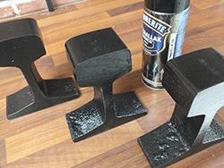 metaal zwart spuiten