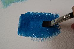 blauwe aquarelverf