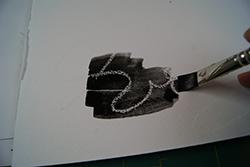 zwarte acquarelverf